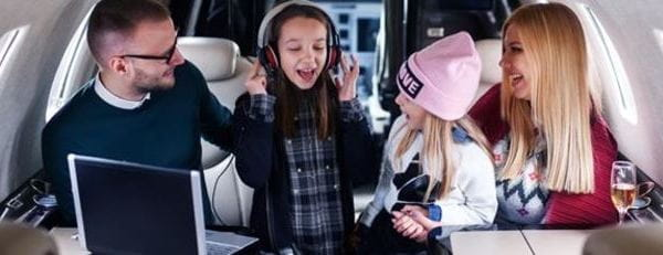 Children on private flights long