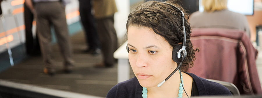 Philadelphia assistance centre employee on call