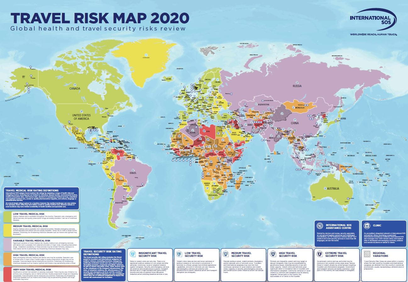 Travel Risk Map