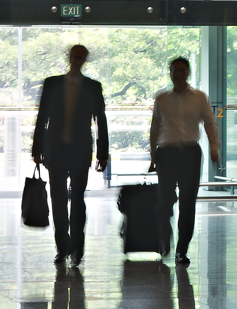business travellers in airport