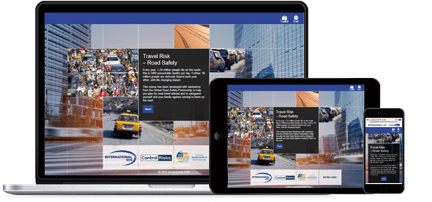 Road Safety eLearning on multiple devices